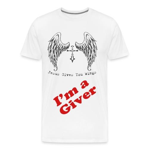 DB Church Rockin I'm A Giver Tee - Men's Premium T-Shirt