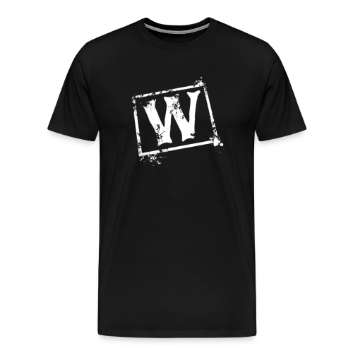Watchmen Support W with back graphic - Black - Men's Premium T-Shirt