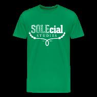 T-Shirts ~ Men's Premium T-Shirt ~ SOLEcial Studies Tee by RDQLUS creative (Pick Your Color) 3XL & 4XL *Scholarship Tee*