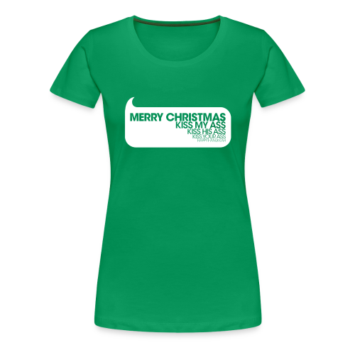 Merry Christmas. Kiss My Ass. Christmas Vacation Womens Tee - Women's Premium T-Shirt