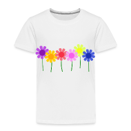 Baby & Toddler Shirts ~ Toddler Premium T-Shirt ~ Flowers