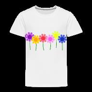 Baby & Toddler Shirts ~ Toddler Premium T-Shirt ~ Flowers