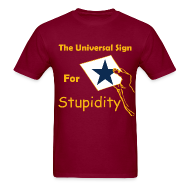 T-Shirts ~ Men's T-Shirt ~ Universal Sign For Stupidity Tee