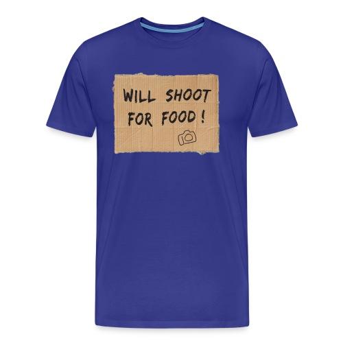 Will Shoot For Food - Men's Premium T-Shirt