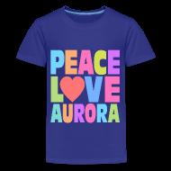 Kids' Shirts ~ Kids' Premium T-Shirt ~ Peace Love Aurora