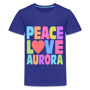 Peace Love Aurora - Kids' Premium T-Shirt