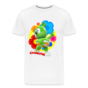 Gummibär (The Gummy Bear) Fun Flowers Men's 3XL & 4XL T-Shirt - Men's Premium T-Shirt