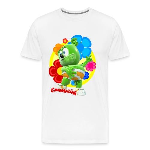 Gummibär (The Gummy Bear) Fun Flowers Men's 3XL & 4XL T-Shirt - Men's Premium T-Shirt