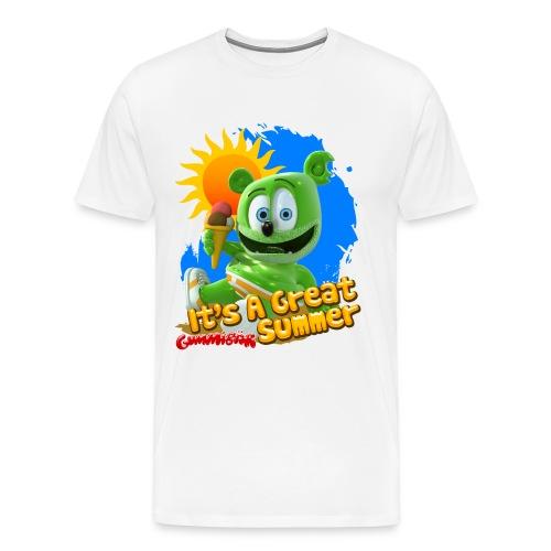 Gummibär (The Gummy Bear) It's A Great Summer Men's Heavyweight T-Shirt - Men's Premium T-Shirt