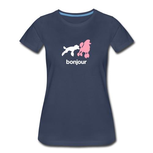 Bonjour Poodles Womens Tee - Women's Premium T-Shirt