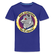Kids' Shirts ~ Kids' Premium T-Shirt ~ Wolfie McWolfington Seal of Approval Kid's Sizes