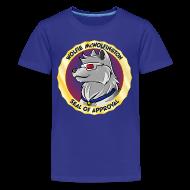Kids' Shirts ~ Kids' Premium T-Shirt ~ Wolfie McWolfington Seal of Approval Kid's Sizes