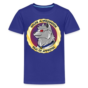 Wolfie McWolfington Seal of Approval Kid's Sizes - Kids' Premium T-Shirt