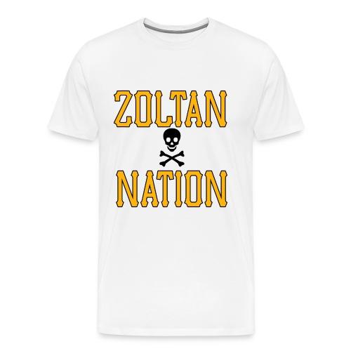 Zoltan Nation Mens Heavy White - Men's Premium T-Shirt
