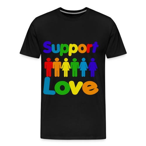 Support Gay Marriage & Love - Men's Premium T-Shirt