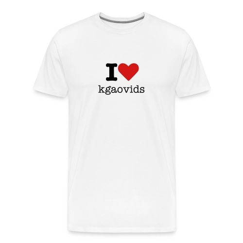 I love kgaovids - Men's Premium T-Shirt