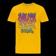 T-Shirts ~ Men's Premium T-Shirt ~ South Beach Graffiti Heavyweight T-Shirt