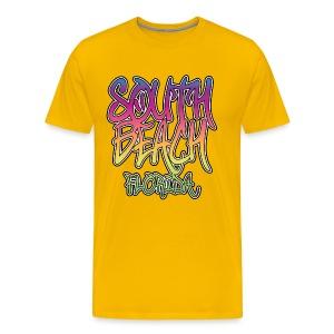 South Beach Graffiti Heavyweight T-Shirt - Men's Premium T-Shirt
