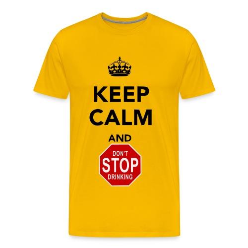 keep calm drinking - Men's Premium T-Shirt