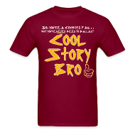 T-Shirts ~ Men's T-Shirt ~ Cool Story Burgundy Tee