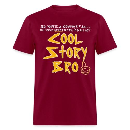 Cool Story Burgundy Tee - Men's T-Shirt