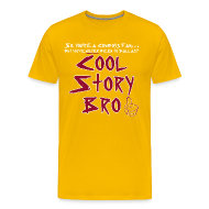 T-Shirts ~ Men's Premium T-Shirt ~ Cool Story Gold