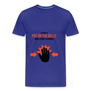 Big/Tall Mens Tee: Belly Pat - Men's Premium T-Shirt