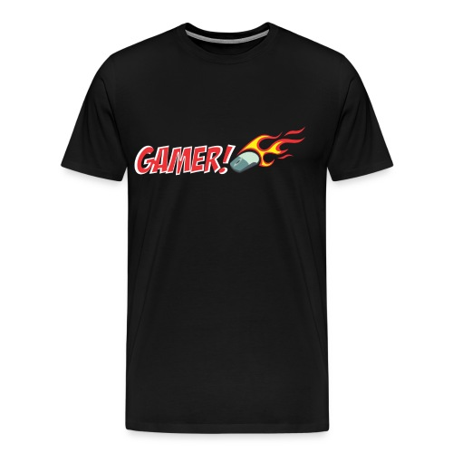 Gamer T-Shirt Mouse Flame - Men's Premium T-Shirt