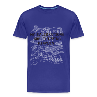 T-Shirts ~ Men's Premium T-Shirt ~ My Calculations are Flipping Pinpoint - Safety Not Guaranteed | Robot Plunger