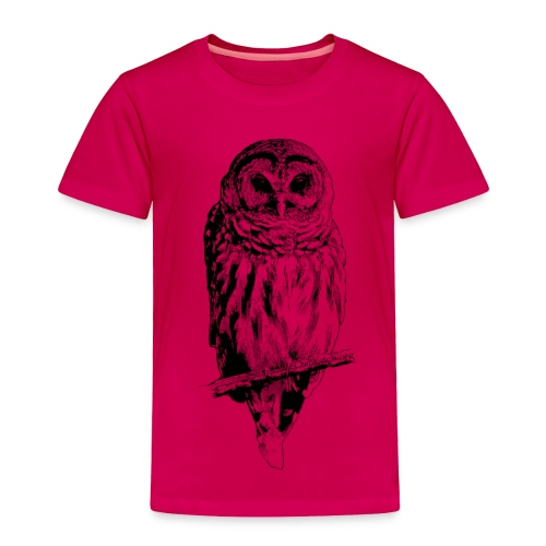 Barred Owl - 4757 - Toddler Premium T-Shirt