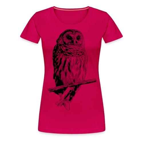 Barred Owl - 4768 - Women's Premium T-Shirt