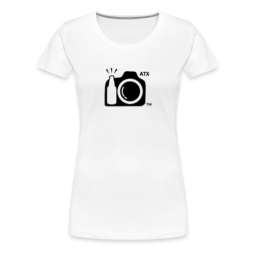 Women's Classic T-Shirt LARGE logo with ATX initials - Women's Premium T-Shirt