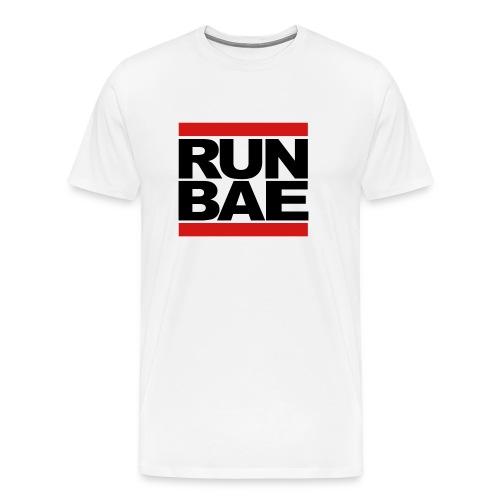 RUN BAE - White - Men's Premium T-Shirt