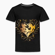 heart - yellow Baby & Toddler Shirts
