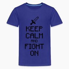 Keep calm and fight on 1c Kids' Shirts