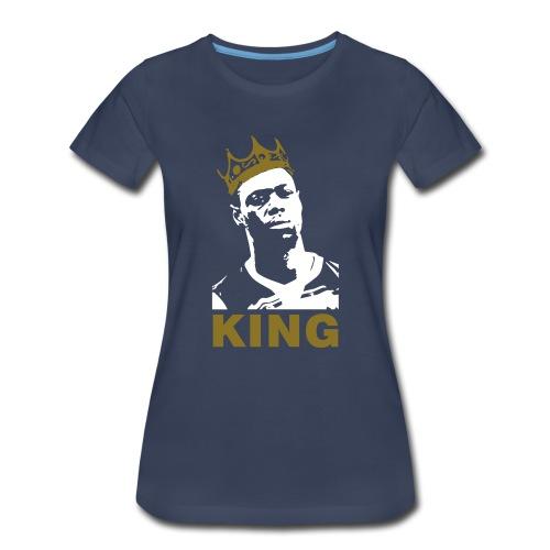 God Save The King - Ladies Navy & Metallic Gold  - Women's Premium T-Shirt