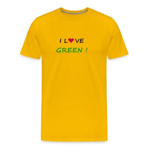 Men's Premium T-Shirt - t-shirt,planete,men,green,fun,ecology