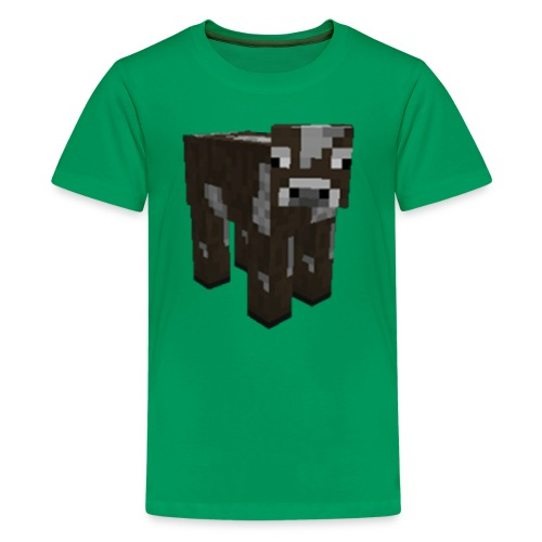 Kids' Premium T-Shirt - Do you love Minecraft? So do we! :] This High Quality and AWESOME image can be printed just for YOU in ANY size, on ANY type of apparel, in ANY color! This design was created by MinecraftKingdom as an EXCLUSIVE Spreadshirt design just for you! In our store we literally have HUNDREDS of other Minecraft related designs, all printed just for YOU!  Mob, Mobs, Character, Characters, Animal, Animals, Enemy, Enemies, Face Shots (Some items listed are still in production): Creeper, Creepers, Charged Creeper, Charged Creepers, Ghast, Ghasts, Zombie, Zombies, Enderman, Endermen, Enderman's Endermen's, Steve, Chicken, Chickens, Pig, Pigs, Cow, Cows, Squid, Squids, Cave Spider, Cave Spiders, Spider, Spiders, Iron and Snow Golem / Golems, Skeleton, Skeletons, Mounted Skeletons, Spider Jockey, Sprider Jockeys, Zombie Pigman, Zombie Pigmen, Wolf, Wolves, Dog, Dogs, Cat, Cats, Ocelot, Ocelots, Mooshroom, Mooshrooms, Sheep, Sheep's, Villager, Villagers, Testificate, Testificates, Blaze, Blazes, Magma Cube, Magma Cubes, Silverfish, Silverfishes, Slime, Slimes, Ender Dragon, Ender Dragons, Enderdragon, Fish, Fishes, Red Dragon, Red Dragons, Reddragon, Beast Boy, Black Steve, Human, Humans, Rana, Giant, Giants, Wither, Withers, Panda, Pandas, Herobrine, Herobrines  Food (Some items listed are still in production): Baked Potato, Bread, Cake, Carrots, Chicken Egg, Cooked Chicken, Cooked Fish, Cooked Porkchop, Cookie, Golden Apple, Golden Carrot, Melon Slice, Milk, Mushroom Stew, Mushrooms, Poisonous Potato, Potato, Raw Beef, Raw Chicken, Raw Fish, Raw Porkchop, Red Apple, Rotten Flesh, Spider Eye, Steak, Sugar, Wheat  Blocks, Materials, Ores, Weapons, Tools, Etc. (Some items listed are still in production): EnderChest, Ender Chest,Stone, Grass, Dirt, Cobblestone, Wooden Plank (Oak), Wooden Plank (Pine), Wooden Plank (Birch), Wooden Plank (Jungle), Sapling (Oak), Sapling (Pine), Sapling (Birch), Sapling (Jungle), Bedrock, Water, Water (No Spread), Lava, Lava (No Sp