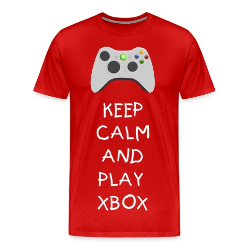 Keep clam and play xbox - Men's Premium T-Shirt
