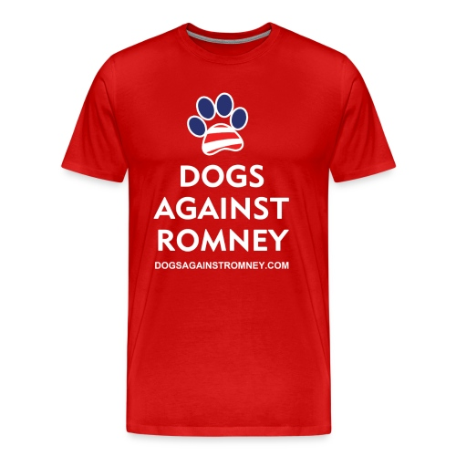Official Dogs Against Romney Paw Big Man's T-Shirt - Men's Premium T-Shirt