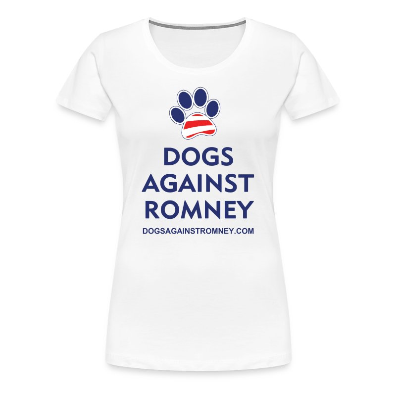 Official Dogs Against Romney Paw Women's Plus T-Shirt - Women's Premium T-Shirt