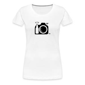 Women's Classic T-Shirt LARGE logo BLACK with SF initials   - Women's Premium T-Shirt