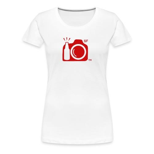 Women's Classic T-Shirt LARGE logo RED with SF initials   - Women's Premium T-Shirt