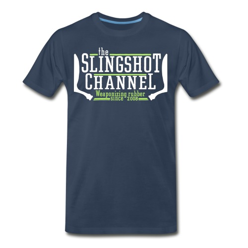The Slingshot Channel 1 (Back and Front) - Men's Premium T-Shirt
