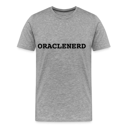 ORACLENERD on Ash - Men's Premium T-Shirt