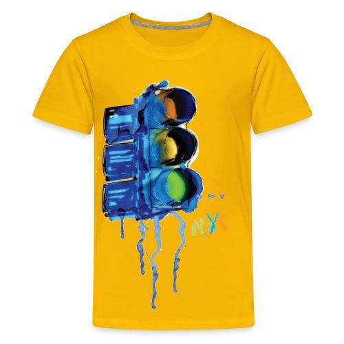 NYC Painted Traffic Light - Kids' Premium T-Shirt