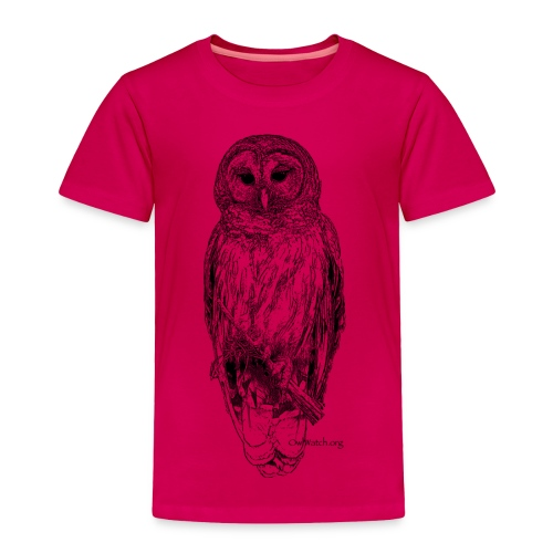 Barred Owl - 8630_stroked - Toddler Premium T-Shirt
