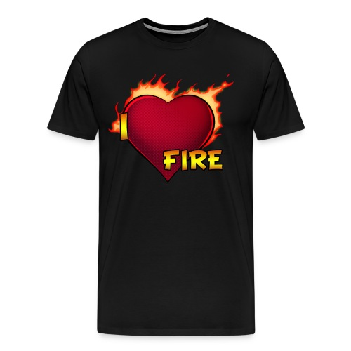 I Love Fire (Heavyweight) - Men's Premium T-Shirt
