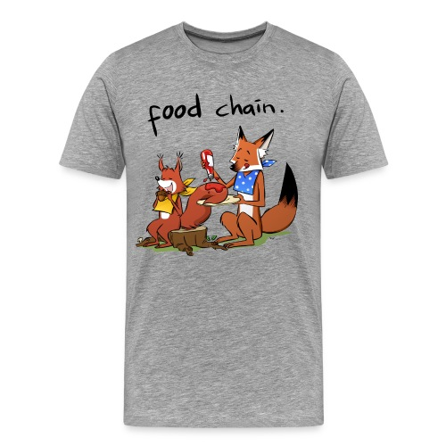 Food Chain (Heavyweight) - Men's Premium T-Shirt