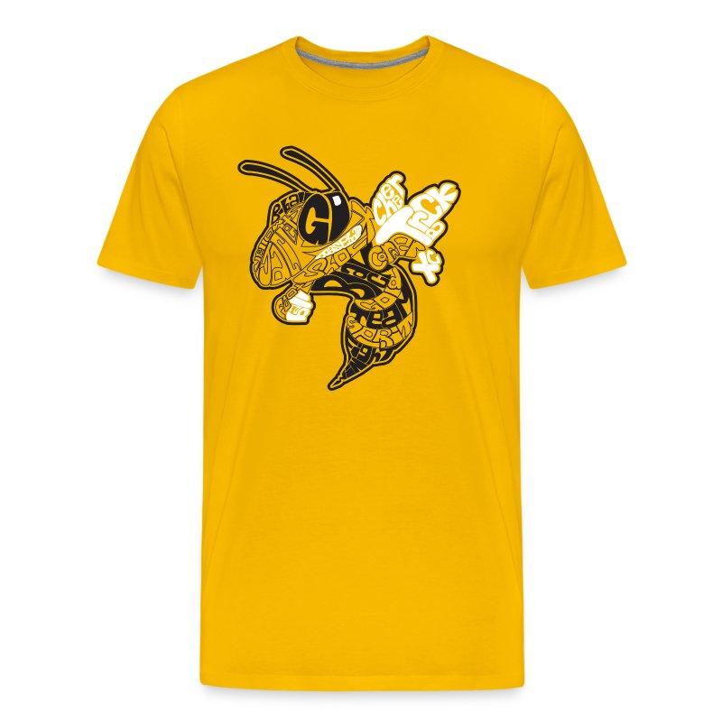 corner yellow jacket t shirt 404791